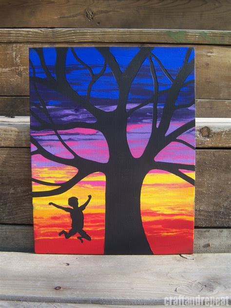 acrylic paint not drying on canvas canvas silhouettes painting with water craftandrepeat
