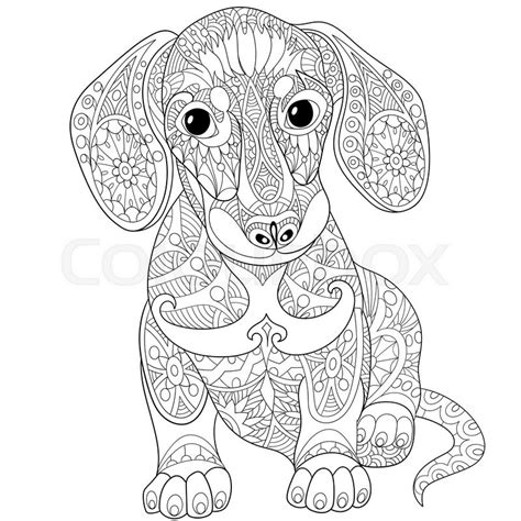 coloring pages of dogs for adults dachshund coloring pages