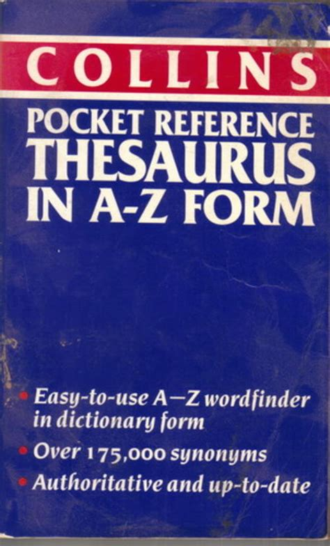 reference book thesaurus meaning reference collins pocket reference thesaurus in a z