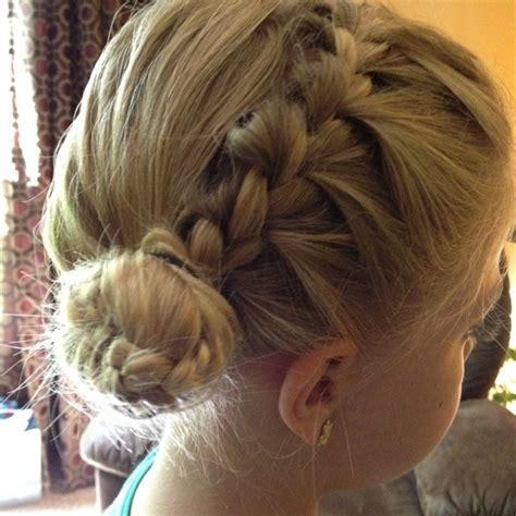 buns with braiding hair and bang braided bangs into a side bun hair pinterest buns