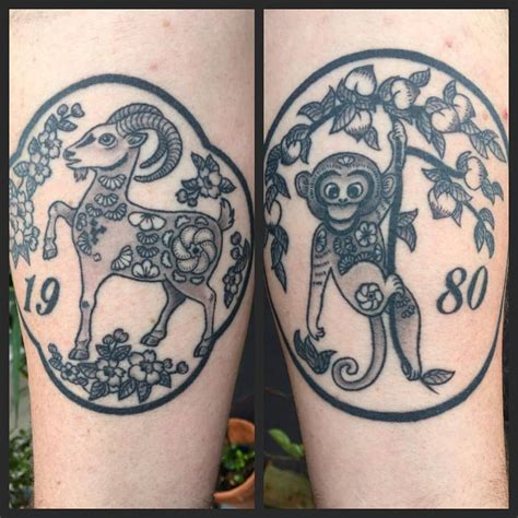 new work goat and monkey tattoos