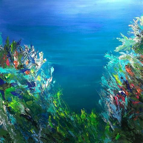 acrylic painting underwater phil watford 24 x 24 acrylic on canvas abstract coral