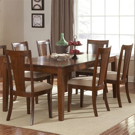 cherry dining room set steve silver easton 7 piece rectangular dining room set in