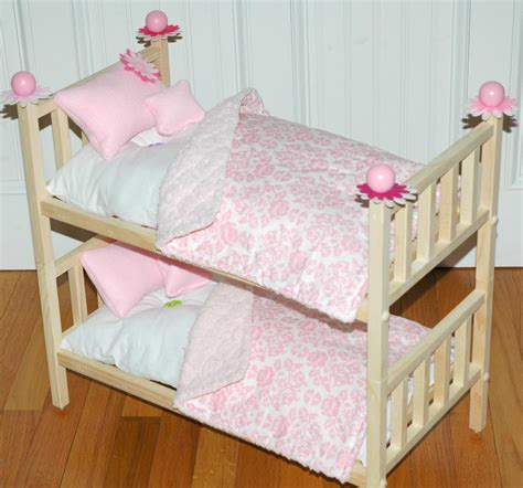 American Doll Bunk Bed by American Doll Bed Doll Bunk Bed Perfectly Pink
