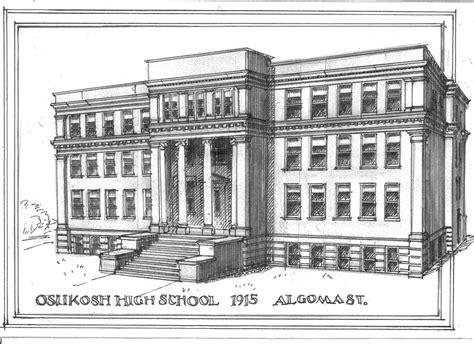 S Drawing Elementary School by Oshkosh City Oshkosh High School Historic Oshkosh