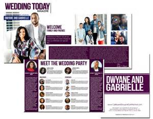 magazine wedding programs wedding magazine program ms publisher template with