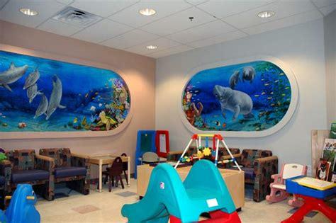 Finding Nemo Wall Mural nebraska artist under water manatee mural for a children