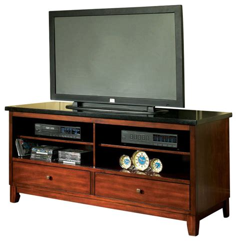 Cabinet For 60 Inch Tv by Steve Silver Granite Bello 60 Inch Tv Stand In Cherry