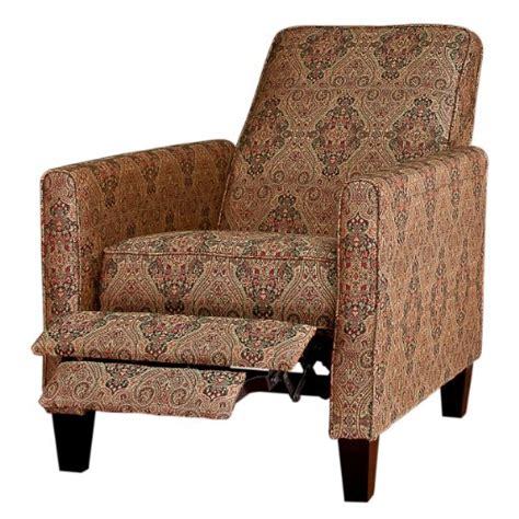 Fabric Reclining Chairs by Recliners Best Paisley Fabric Reclining Club Chair
