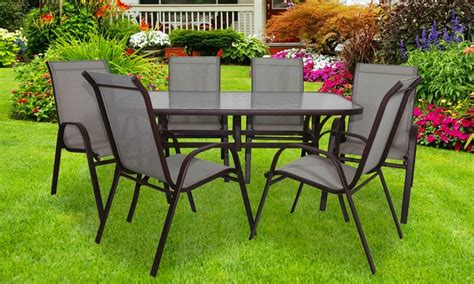 tavoli e sedie da giardino offerte tavolo da giardino e 6 sedie groupon