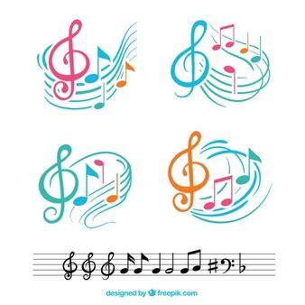 google imagenes con notas musicales notas musicales fotos y vectores gratis