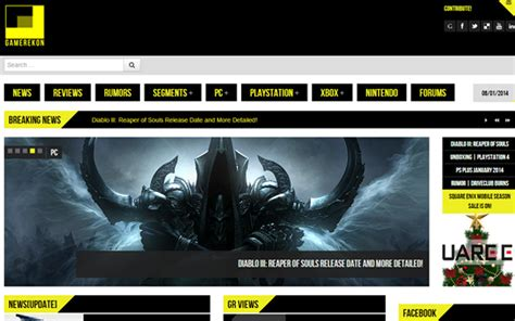 game website layout 20 well designed blogs and magazines for video game news