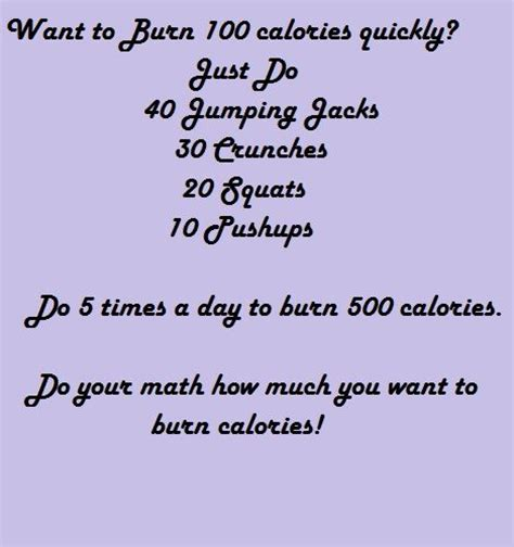 25 best ideas about 100 calorie workout on