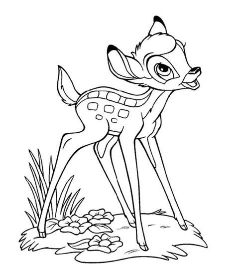 imagenes para colorear venado im 225 genes dulces de bambi de walt disney para pintar