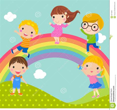 Gamis Rainbow Syari Kid and rainbow royalty free stock photography image