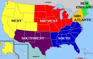 map of the 5 regions of the united states usa map with regions