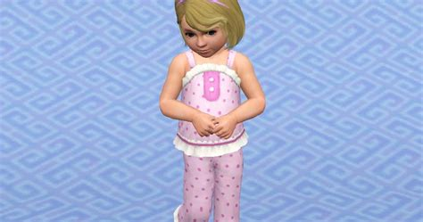 my sims 3 blog sleepy frills pajama set for toddlers by