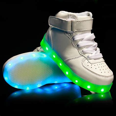 led light up shoes for boys 2017 fashion kids usb charging led light up luminous shoes