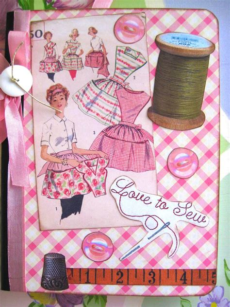 fabric journal pattern 199 best sewing vintage journals etc images on pinterest