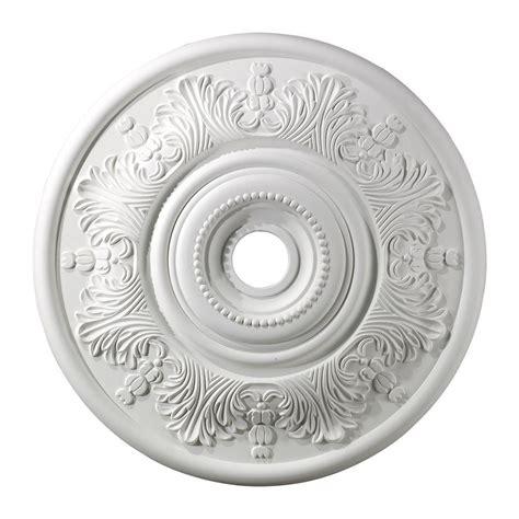 Titan Lighting Laureldale 30 in. White Ceiling Medallion TN 5959 The Home Depot