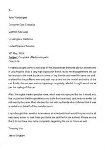 Complaints Letter Is Formal Complaint Letter Cover Letter Sle 2017
