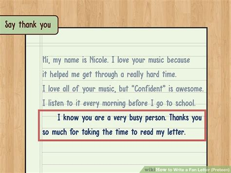 3 ways to write a fan letter wikihow