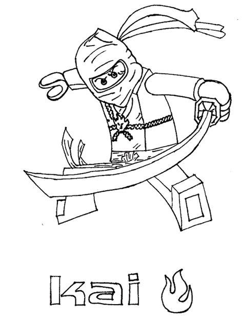 coloring books lego ninjago kai warrior print free download