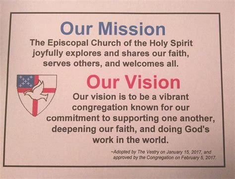church vision statements examples