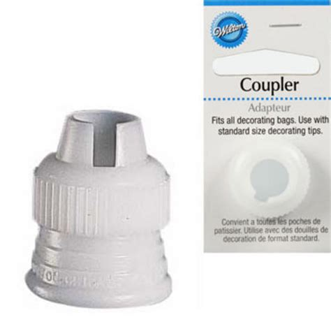 Tip Spuit No 102 No 104 wilton standard coupler for cupcake icing for nozzle tip 102 104 233 carded ebay
