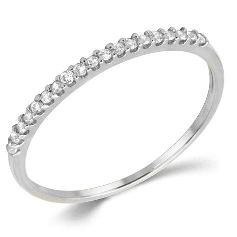 anniversary rings white gold cubic zirconia anniversary rings