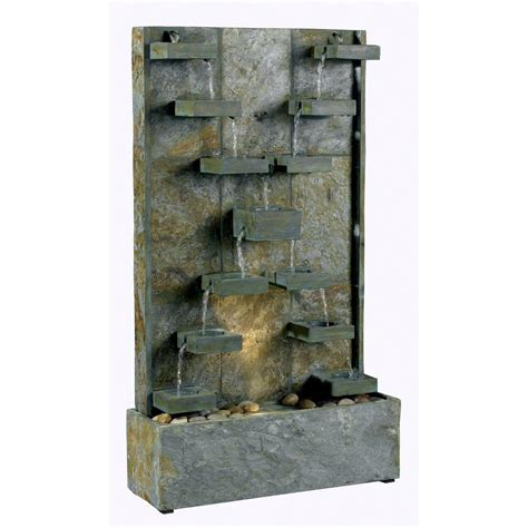 kenroy home watercross indoor outdoor fountain 50375sl