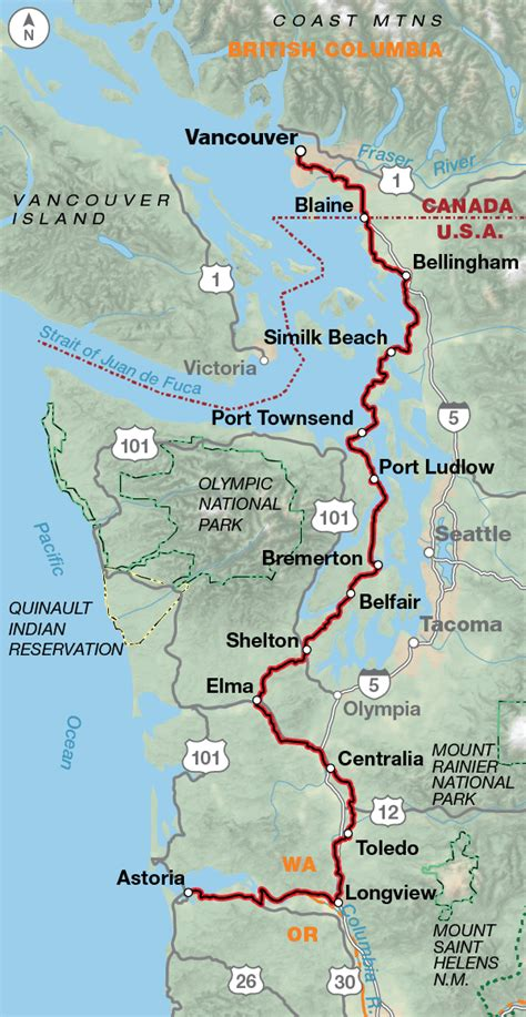 map of oregon pacific coast pacific coast adventure cycling route network