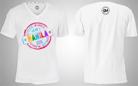 color run shirts color manila run 2015 moa registration singlet map