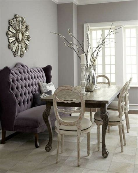 purple tufted banquette bench feel amusing dining experience with astonishing dining