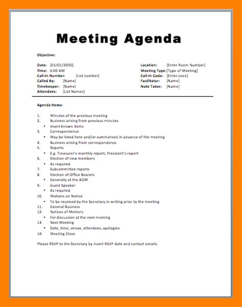 agenda draft template 11 how to write a meeting agenda emt resume