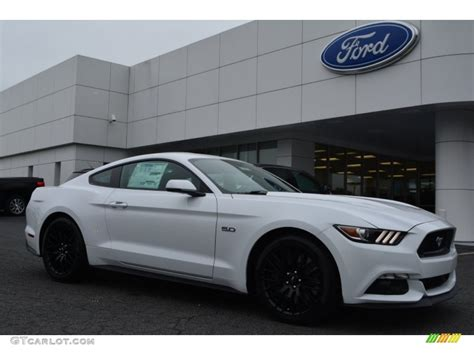 white mustang 2015 oxford white ford mustang gt premium coupe 104439867