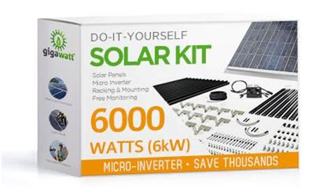 diy solar panel kits for home 6kw solar panel installation kit 6000 watt solar pv system for homes complete grid tie systems