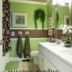 Green And Brown Bathroom Accessories Bathroom Decor On
