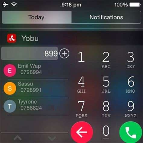 android like yobu brings android like dialing to iphone iphonetricks org
