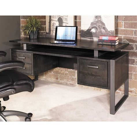 whalen office furniture desk mar vista 64 quot adjustable ped desk charcoal mv64pd whalen