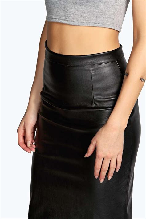 boohoo womens marisa faux leather pencil skirt