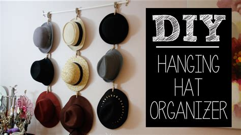 hat hanger ideas diy hat hanger organizer easy beautybitten youtube