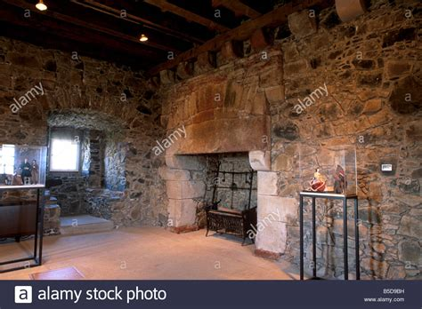 tower interior interior of smailholm tower dating from the 16th century near kelso stock photo royalty free