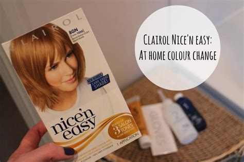 strawberry blonde boxed color clairol nice n easy at home colour change a beauty