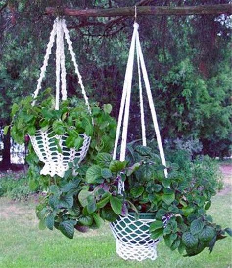 Plant Hanger Pattern - country cottage plant hanger pattern