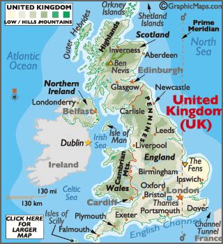 map of the united kingdom united kingdom large color map