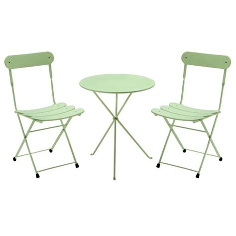 Green Bistro Chairs 3 Pc Folding Bistro Set Light Green