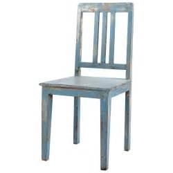 chaise en manguier bleu gris 233 effet vieilli avignon