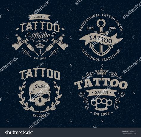 tattoo logo vector studio logo templates on stock vector