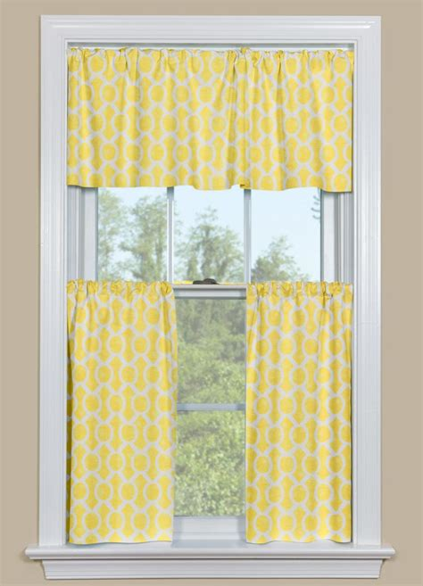 yellow kitchen curtains valances window treatments